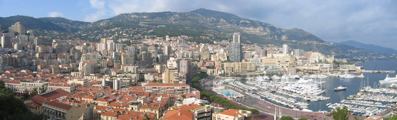 monaco from on high
