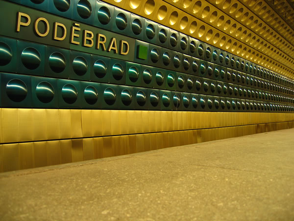 podebrad metro station prague